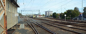 Frankston railway station - Image: Frankston station rail yard