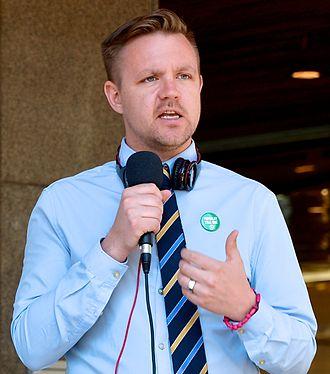 Fredrick Federley - Fredrick Federley speaking near Sergels torg in the 2014 European Parliament election