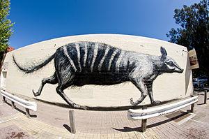 ROA (artist) - ROA's numbat in Fremantle