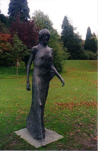 Elisabeth Frink - Walking Madonna, Chatsworth House, Derbyshire