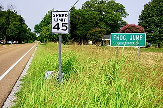 Frog Jump, Crockett County, Tennessee - Entrance to Frog Jump along State Route 88