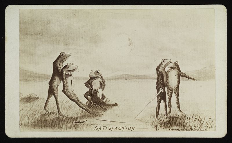 File:Frogs conducting a duel Wellcome L0038394.jpg