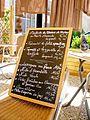 Fromage de chèvre de Moydans dans le menu d'un restaurant des Baronnies.jpg