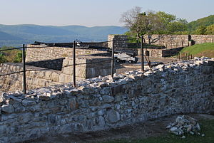 Ft. Putnam's West Wall and Guns May 2010.JPG