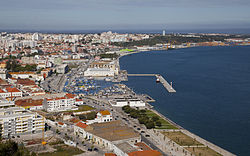 A view from the city of Setúbal, in the central place in the subregion