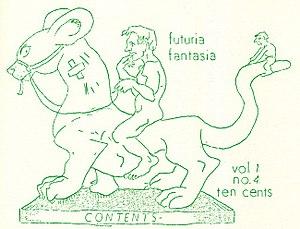 Futuria Fantasia - The illustration for the table of contents of Futuria Fantasia no. 4