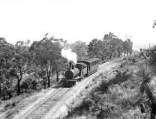 Kalamunda Zig Zag formation of former zig zag railway line