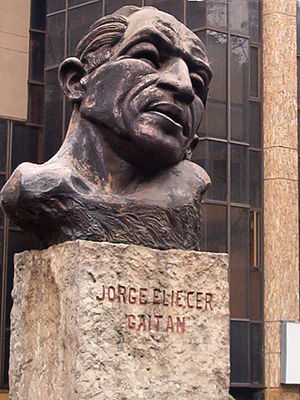 Jorge Eliécer Gaitán - Monument to Gaitán, in Medellín, Colombia