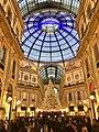 Galleria V.Emanuele II, Xmas tree.jpg
