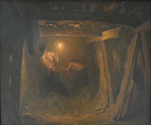 Gaston Brun - Les travaux de la ligne I du metropolitain, place de l'Etoile