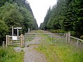 Gate on Witches Trail Cycle Trail in Leanachan Forest - geograph.org.uk - 511379.jpg