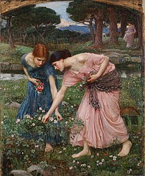 WATERHOUSE John William Gather ye rosebuds while ye may 1909