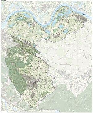 Berg en Dal (municipality) - Map of the municipality of Berg en Dal