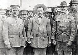 Gen Obregon, Villa, Pershing at Ft Bliss 1914