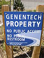 Genentech HQ property sign.JPG