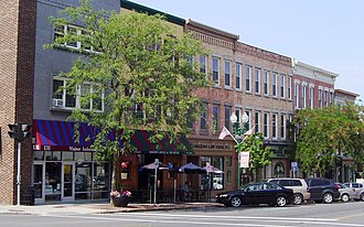 Auburn, New York - North side of Genessee Street in downtown Auburn