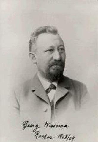 Georg Wissowa - Georg Wissowa (1859-1931)