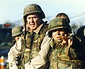 George H.W. Bush Visiting Quantico, January 1997 (32289276718).jpg