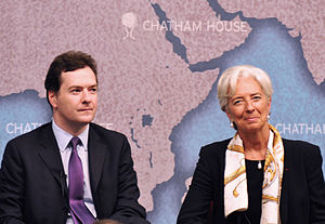 Chatham House - George Osborne and Christine Lagarde speaking at Chatham House, 9 September 2011