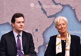 Chatham House - George Osborne and Christine Lagarde speaking at Chatham House, 9 September 2011