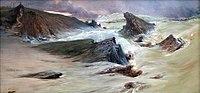 Georges Clairin 1900c Les rochers à Belle-Île, temps gris.jpg