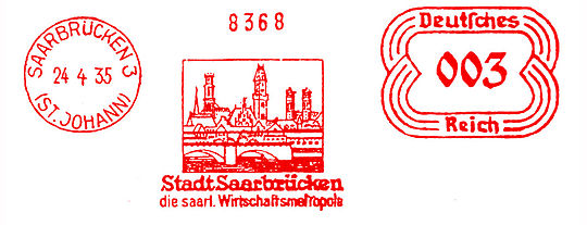 Germany stamp type E2 Saar.jpg