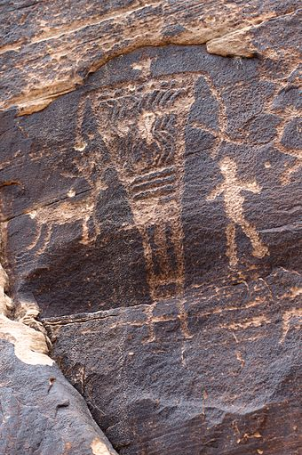 Petroglyphs at Rock Art Canyon Ranch near Winslow Giants, Petroglyphs at Rock Art Ranch.jpg