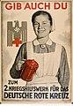 Gib auch du zum 2. Kriegshilfswerk fuer das Deutsche Rote Kreuz. Herausgegeben vom Propagandaamt des Reichsbeauftragten fuer das WHW Schuchert. Illustrateur 1941 Poster Gallica Public domain.jpg