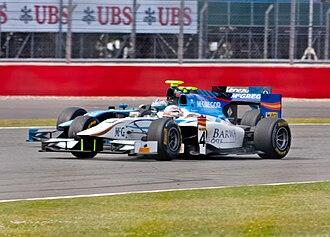 Giedo van der Garde - Van der Garde driving for Barwa Addax at the Silverstone round of the 2011 GP2 Series season.