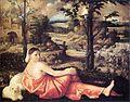 Giovanni Cariani - Reclining Woman in a Landscape - WGA4214.jpg