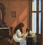 Ragazza alla macchina da cucire di Edward Hopper 1921.jpg