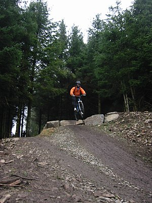 7stanes - Getting air at Glentress