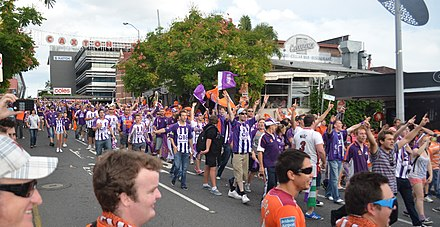 Glory fans prior to the 2012 A-League Grand Final Glory fans (7108830199).jpg