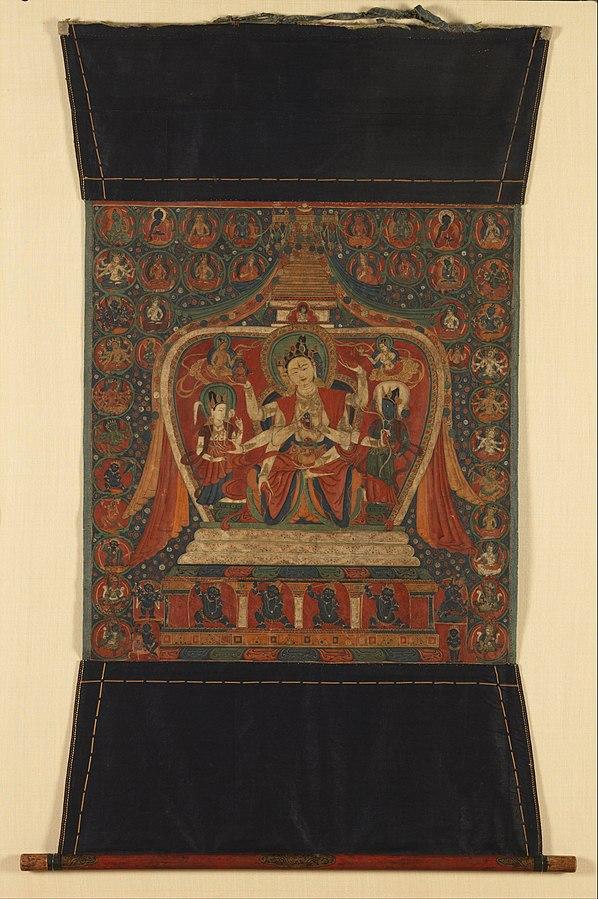 Goddess Ushnishavijaya in Stupa