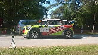 Rally Estonia - Valeriy Gorban driving a Mini John Cooper Works WRC on the 2018 rally.