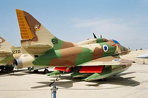 147 Squadron (Israel) - 147 Squadron A-4 Skyhawk at the Israeli Air Force Museum, Hatzerim