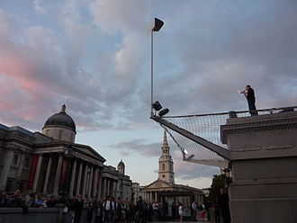 One & Other - Image: Gormley Oneand Other 4th Plinth Trafalgar Sq 20090706