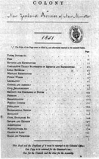 Government Blue Book New Zealand Table of Contents 1851.jpg