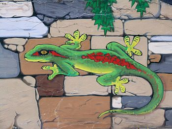 Graffiti in Grugapark, detail 1 (Essen, Germany).jpg