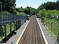 Grafton station platforms from footbridge, June 2012.JPG