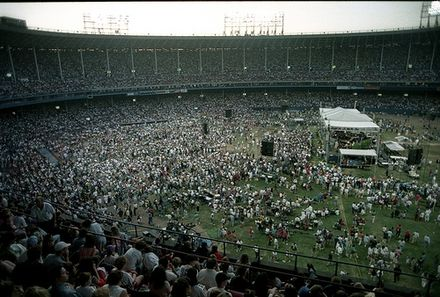 The stadium hosts a 1994 Billy Graham crusade