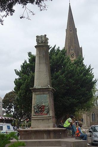 Battle of Grahamstown - Elizabeth Salt Monument in High Street (Grahamstown)