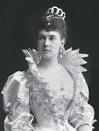 Duchess Marie of Mecklenburg-Schwerin - Grand Duchess Maria Pavlovna the Elder of Russia, late 1880s