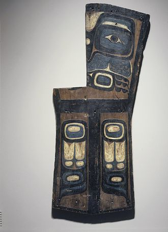 Headstone - Grave Marker, Gwa'sala Kwakwaka'wakw (Native American), late 19th century, wood, pigment, Brooklyn Museum