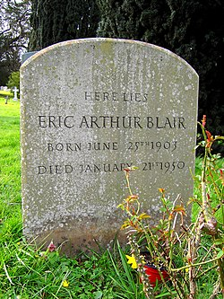 Grave of Eric Arthur Blair (George Orwell), All Saints, Sutton Courtenay - geograph.org.uk - 362277.jpg