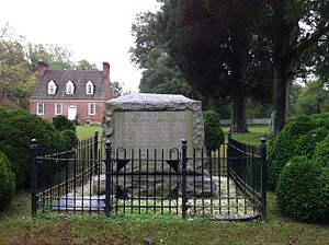 William Smallwood -  Gravestone of Gen William Smallwood at his home, Smallwood's Retreat, near Marbury, Maryland