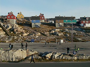 Association football in Greenland - Football field in Ilulissat