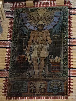 Franciscus Hermanus Bach - Image: Groningen Hoofdstation tegeltableau Arbeid