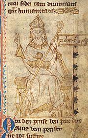 A 13th century portrait of Grosseteste.