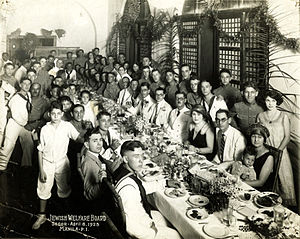 Group portrait of Passover Seder, Manila, Phil...